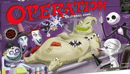 USAopoly Operation: Tim Burtons the Nightmare Before Christmas [With Cards and Play Money, Oogie Boogie Tray, Tweezers, Parts]